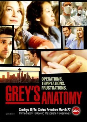 Анатомия Грей (Анатомия страсти) / Grey's Anatomy (1 сезон/2005)